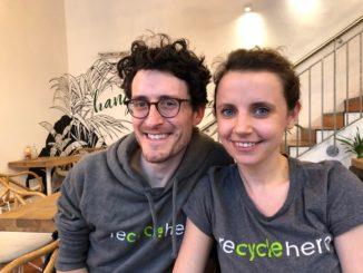 Nadine und Alessandro wollen mit recyclehero Menschen eine Arbeitsperspektive geben. Foto: Leonardo de Araujo