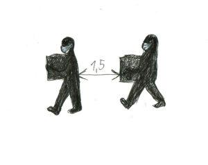 Abstand.Zeichnungen: Eugenia Loginova